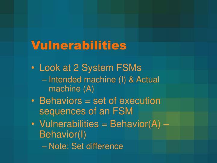 Vulnerabilities