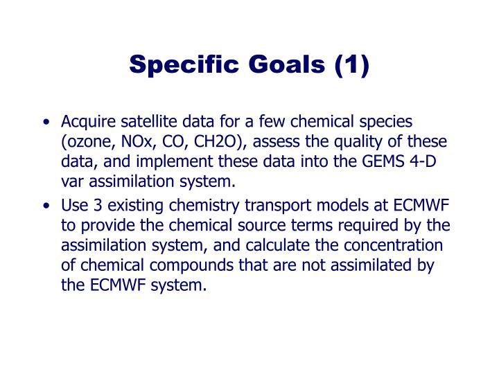 Specific Goals (1)