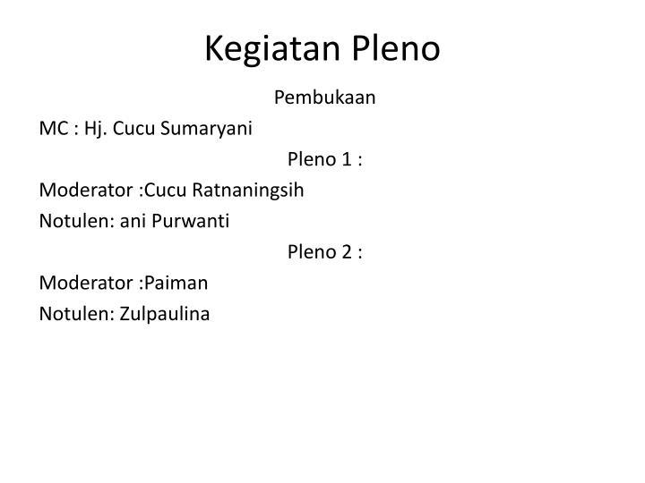 Kegiatan Pleno