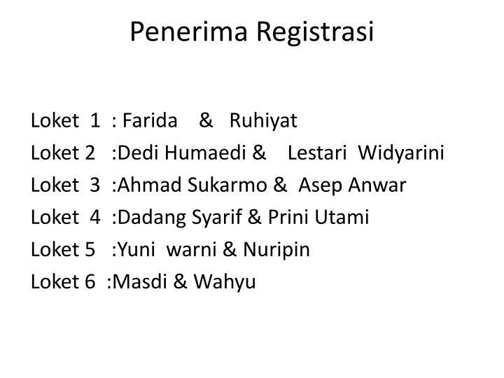 Penerima Registrasi