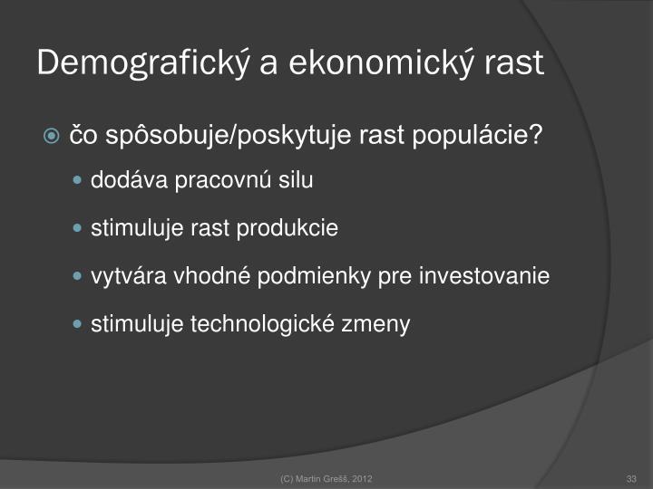 Demografický a ekonomický rast