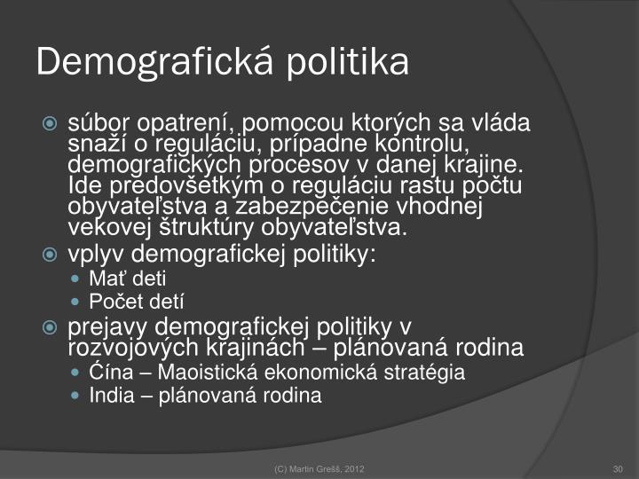 Demografická politika