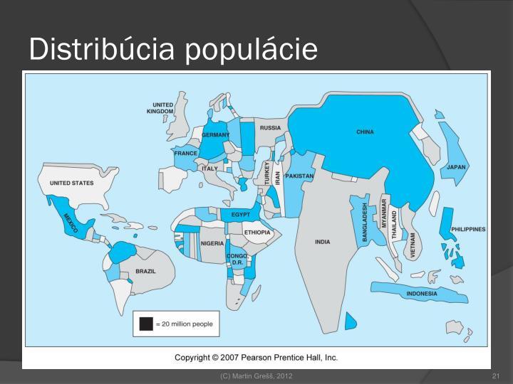 Distribúcia populácie