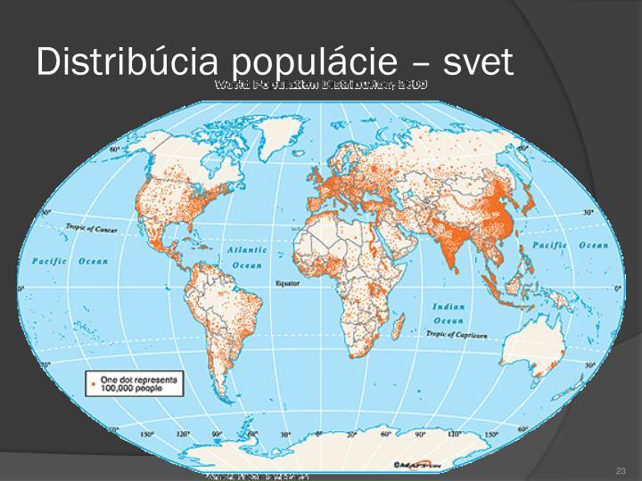 Distribúcia populácie – svet