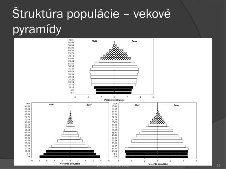 Štruktúra populácie – vekové pyramídy