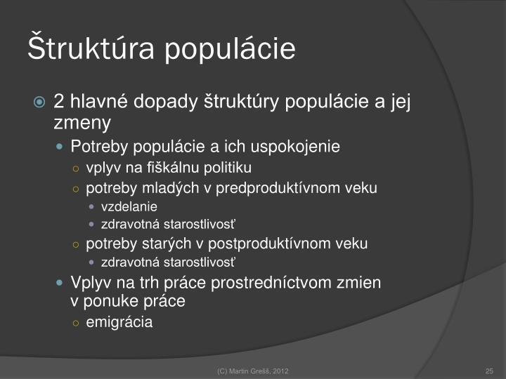 Štruktúra populácie