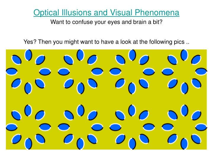 Optical Illusions and Visual Phenomena