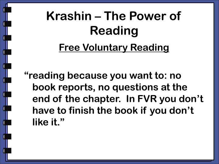 Krashin – The Power of Reading