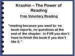 krashin the power of reading