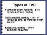 types of fvr