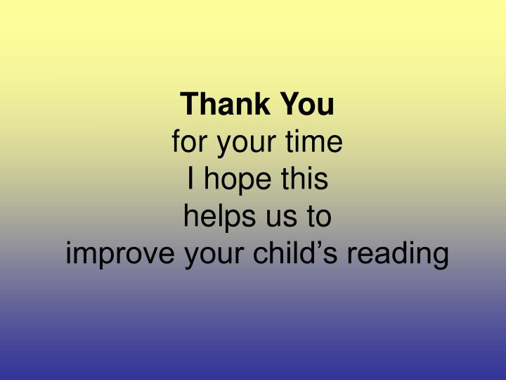 ppt how can i improve my child s reading powerpoint