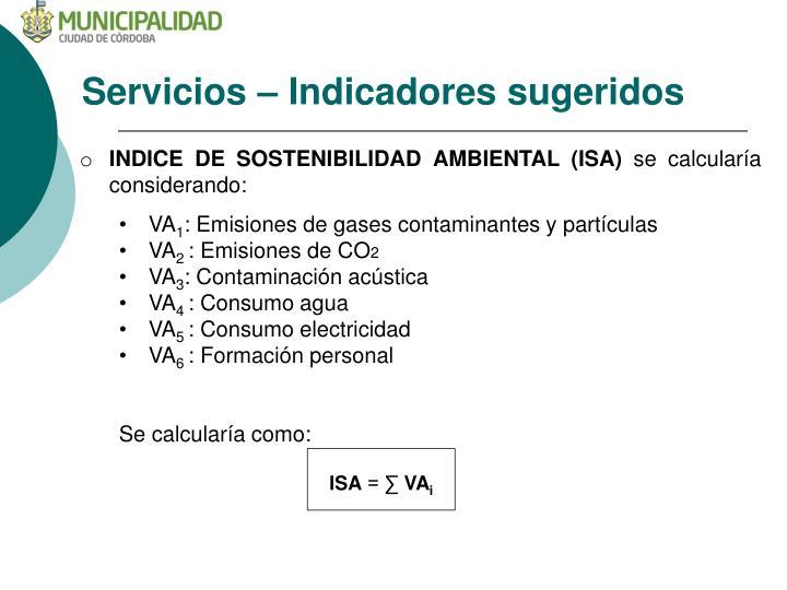 Servicios –