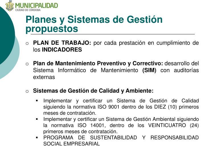 Planes y Sistemas de