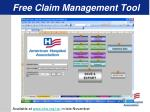 free claim management tool