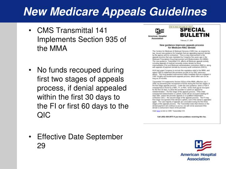 New Medicare Appeals Guidelines