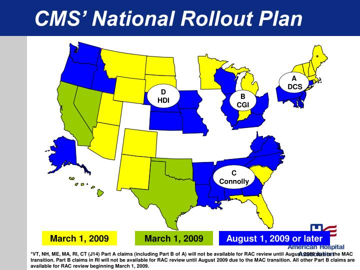 CMS' National Rollout Plan