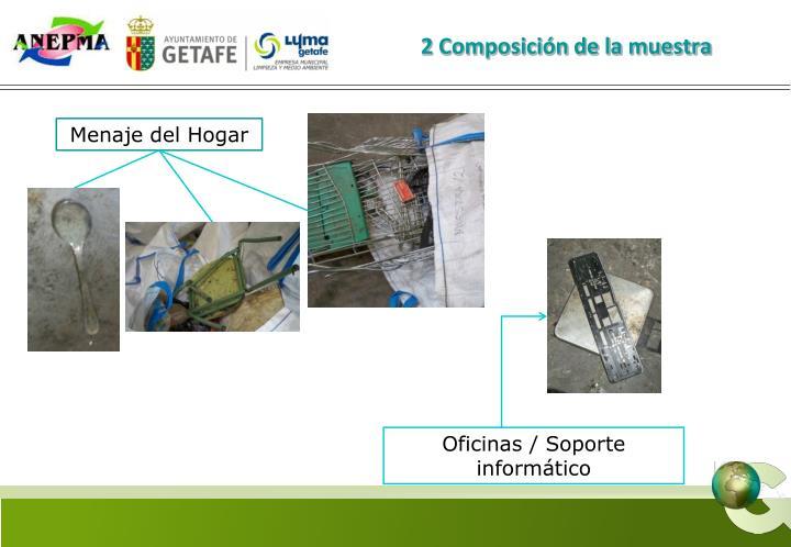 2 Composición de la muestra