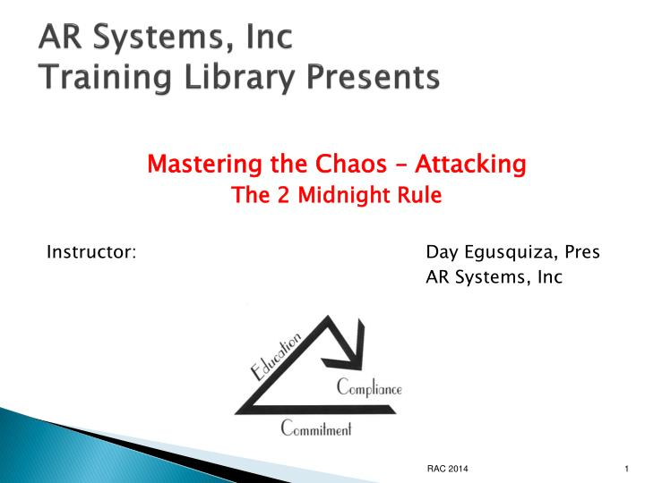 Ar systems inc training library presents