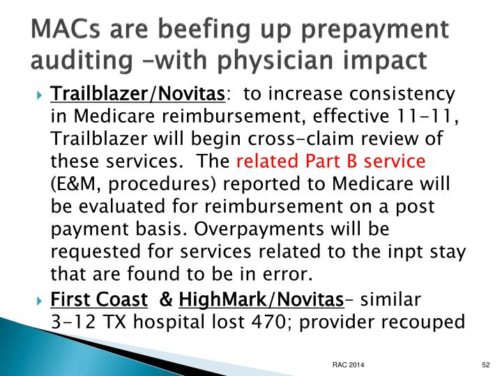 MACs are beefing up prepayment auditing –with physician impact