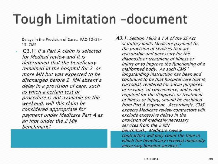 Tough Limitation –document