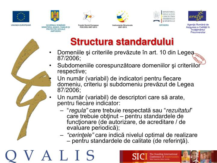 Structura standardului