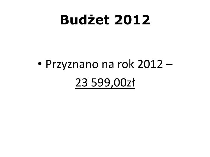 Budżet 2012