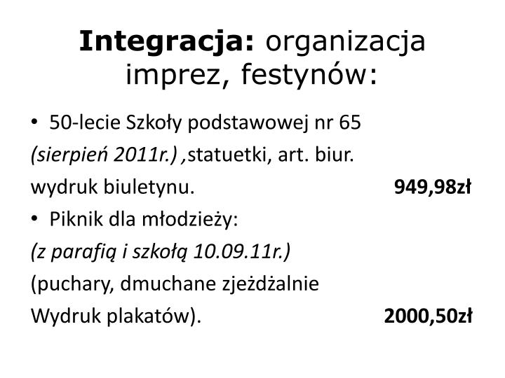 Integracja: