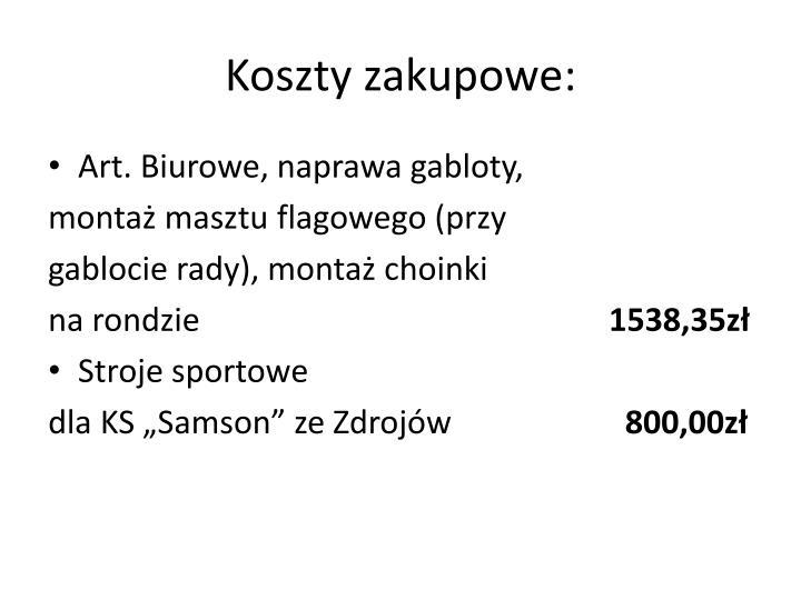 Koszty zakupowe: