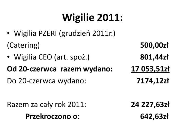 Wigilie 2011: