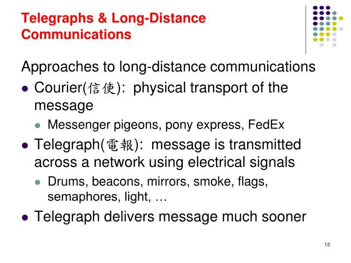 Telegraphs & Long-Distance Communications