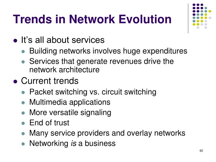 Trends in Network Evolution