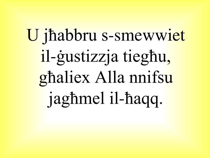 U jħabbru s-smewwiet
