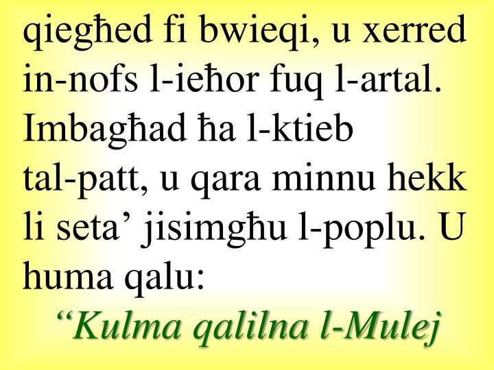 qiegħed