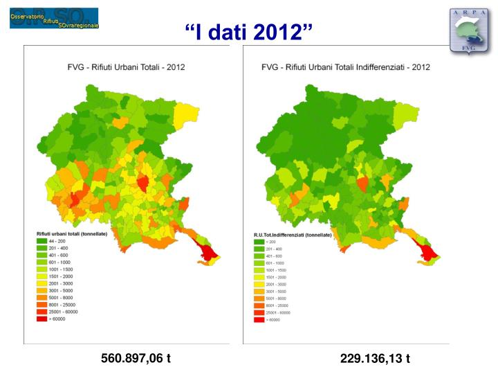 """""""I dati 2012"""""""