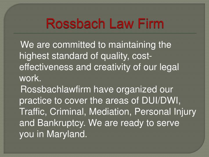 Rossbach Law Firm
