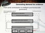 generating demand for evidence