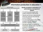 information production in education 1