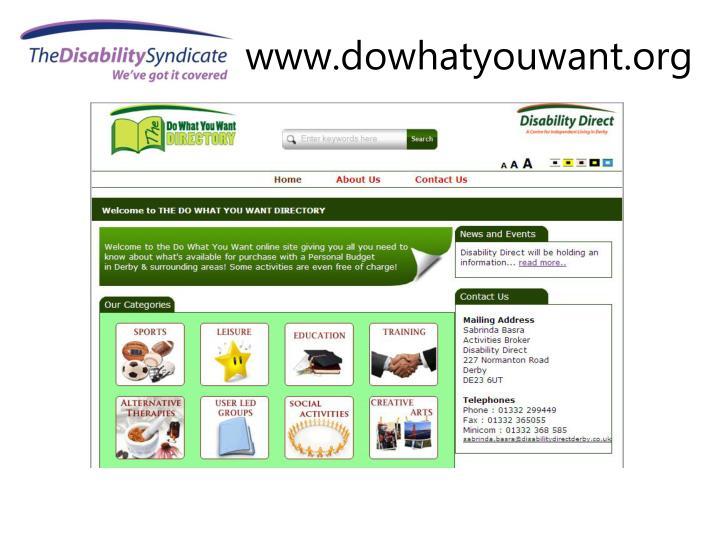 www.dowhatyouwant.org