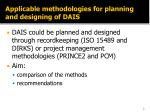 applicable methodologies for planning and designing of dais