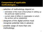 comparison of applicable methodologies4