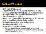 dais as ipa project
