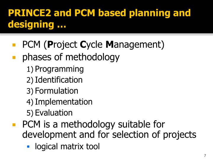 PRINCE2 and PCM