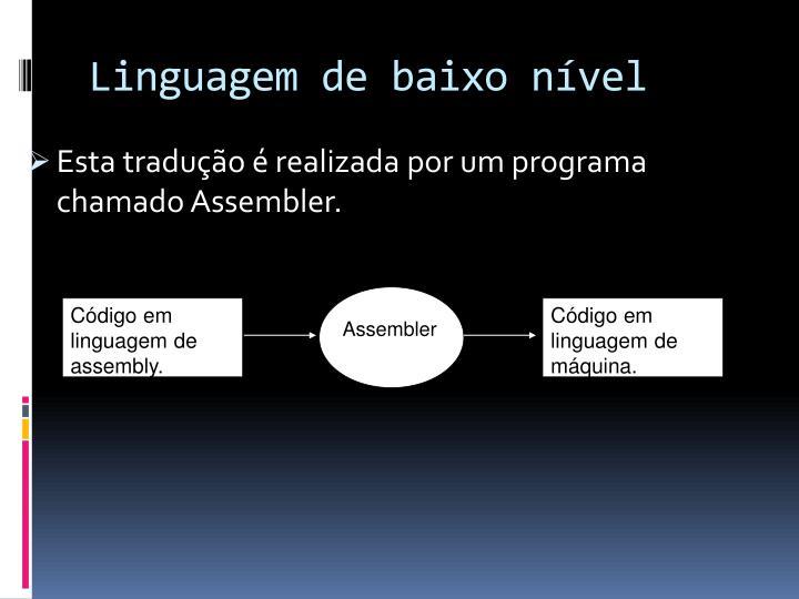 Código em linguagem de assembly.