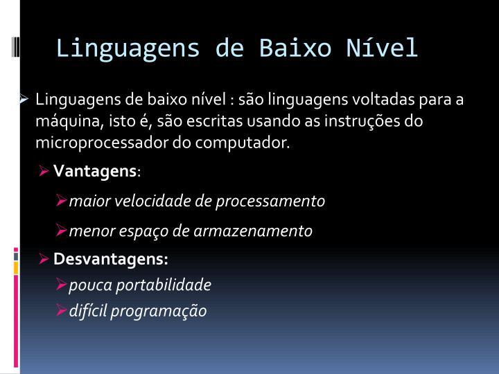 Linguagens de Baixo Nível