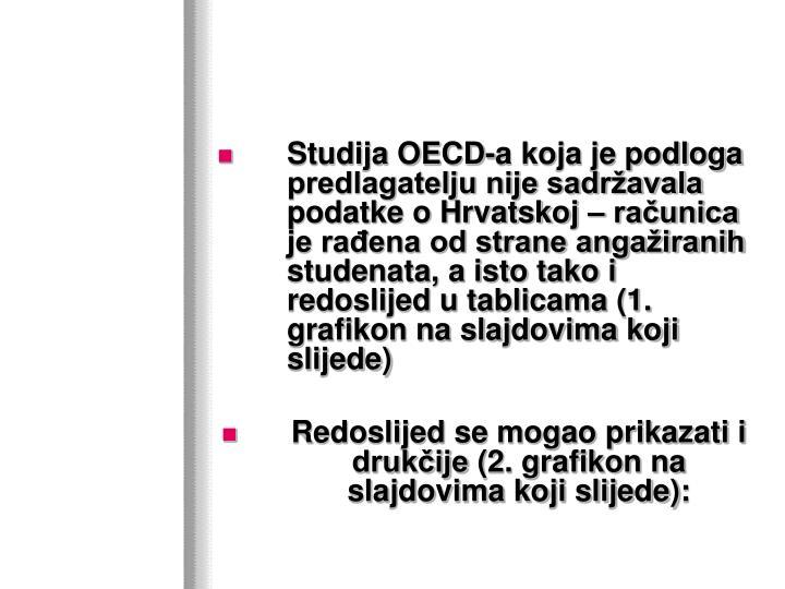 Studija OECD-a koja je podloga predlagatelju nije sadržavala podatke o Hrvatskoj – računica je rađena od strane angažiranih studenata, a isto tako i redoslijed u tablicama