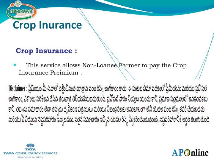 Crop Inurance