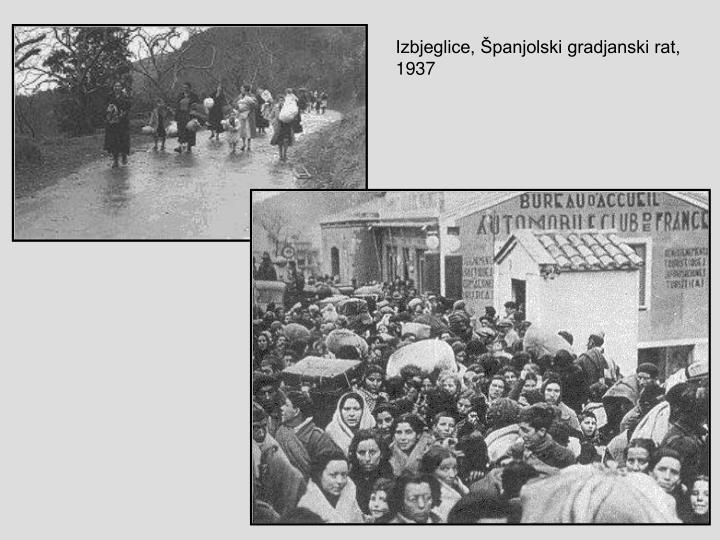 Izbjeglice, Španjolski gradjanski rat,