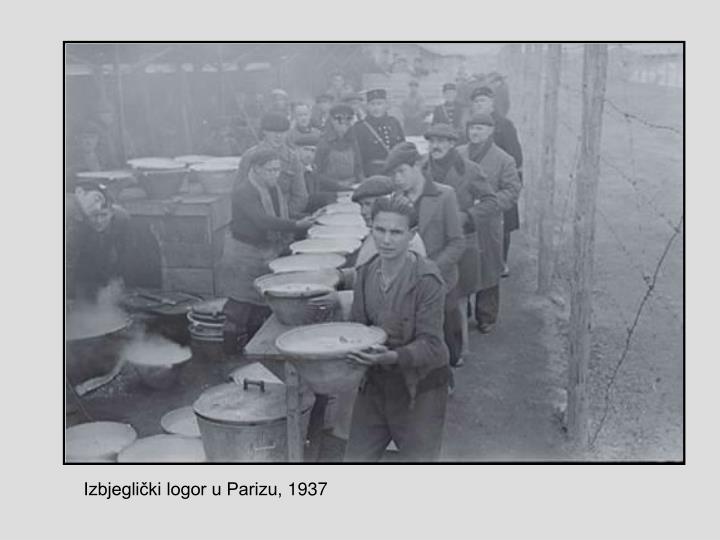 Izbjeglički logor u Parizu, 1937