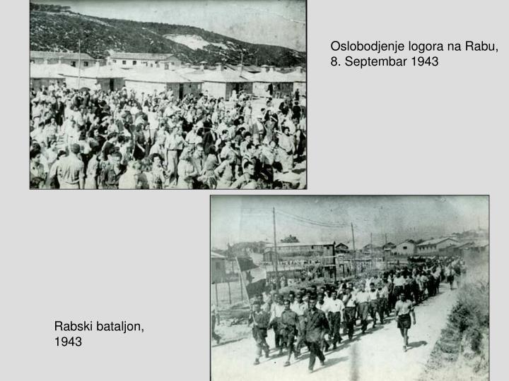 Oslobodjenje logora na Rabu,