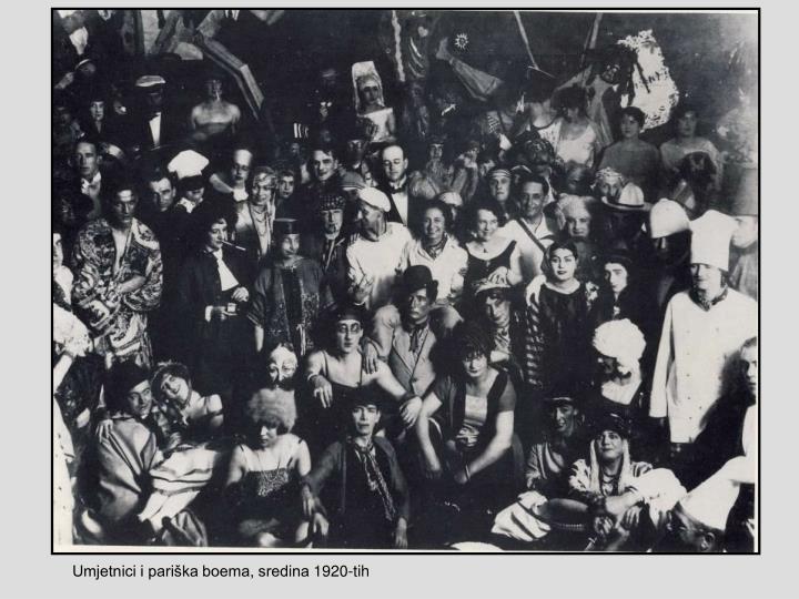 Umjetnici i pariška boema, sredina 1920-tih